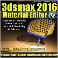 017 3ds max 2016 Material Editor Vol. 17 Italiano cd front
