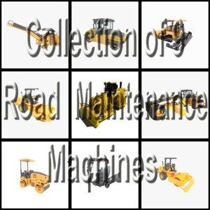 3d 9 road maintenance construction model