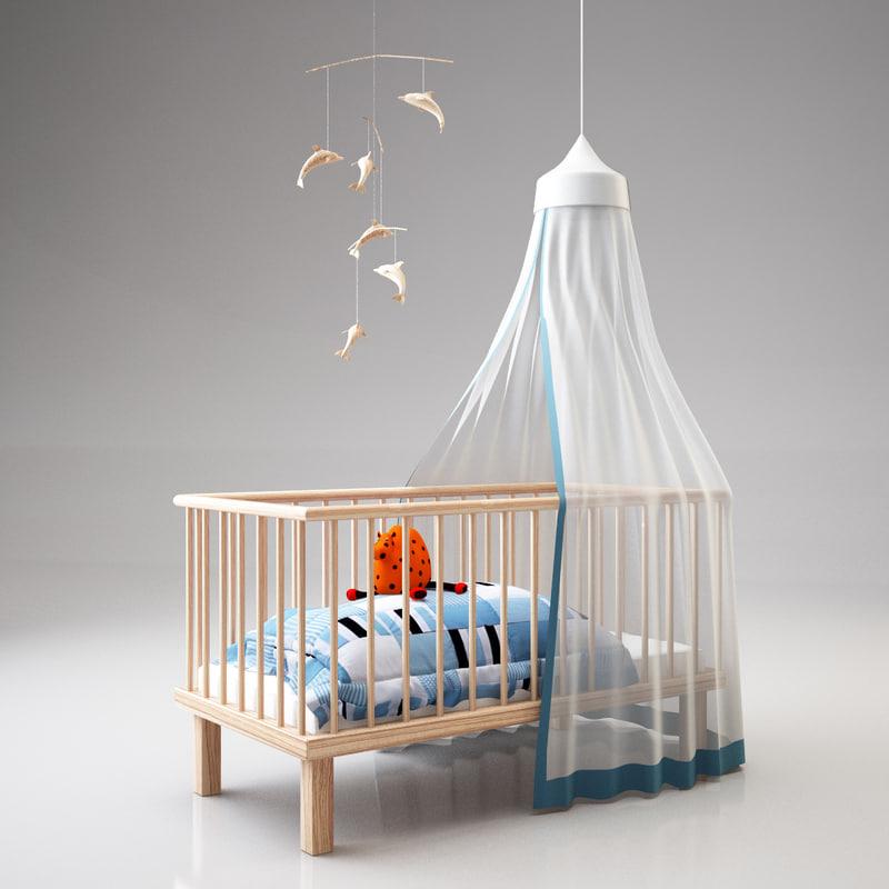 crib 3d 3ds