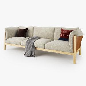 3ds max padova yak seater sofa