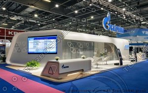 exhibition stand 3 sides 3d model