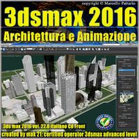 022 3ds max 2016 Architettura e Animazione v.22 Italiano cd front