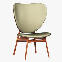 baxter alvaro chair 3d 3ds