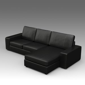 3d model leather sofa ikea