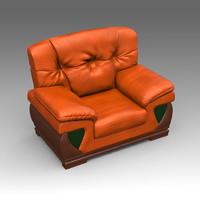 leather armchair 3d x