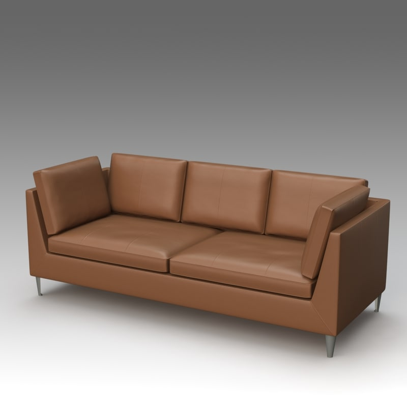 3d leather sofa ikea
