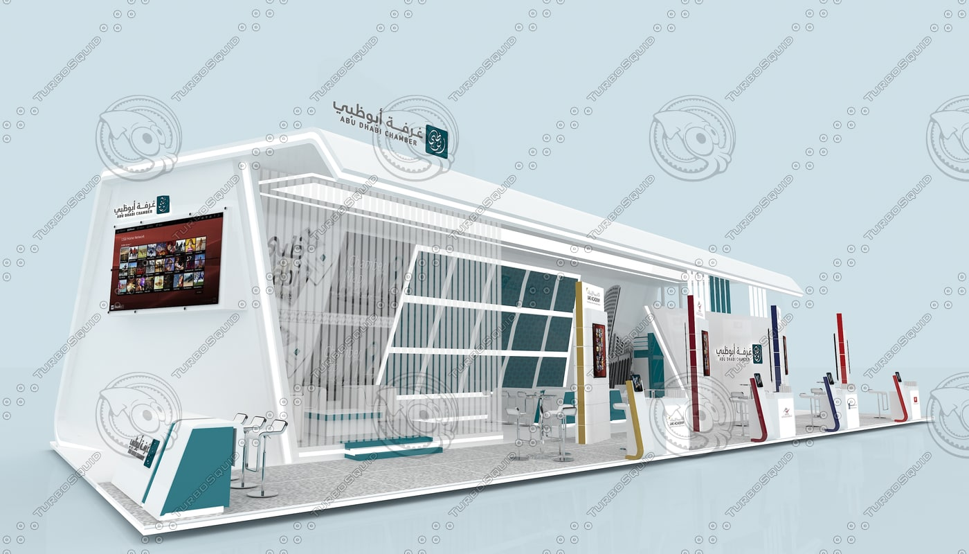 3d model of exhibition stand