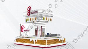 3d exhibition stand ice cream