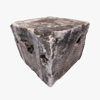 concrete block 3d model