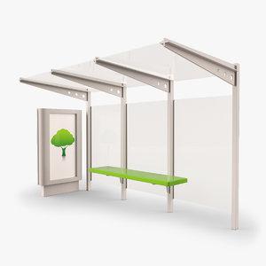 3d model bus stop