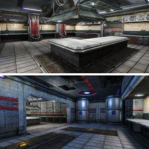 sci-fi interior medic 3d 3ds