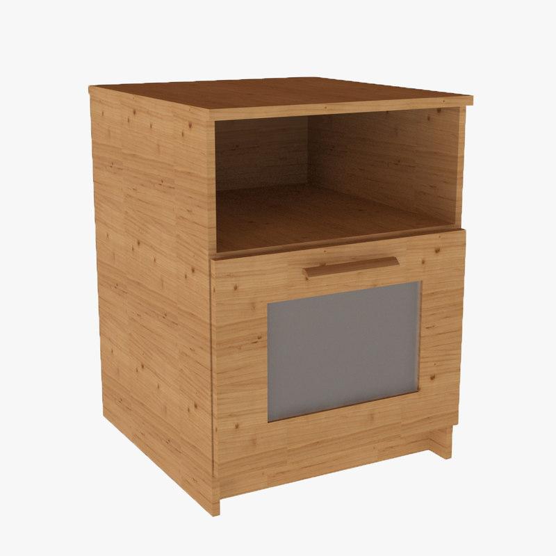 brimnes bedside table 3d model