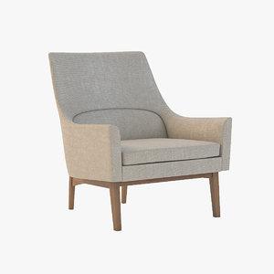 3ds max joybird knight chair