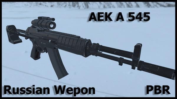 3d model russian modern weapon aek
