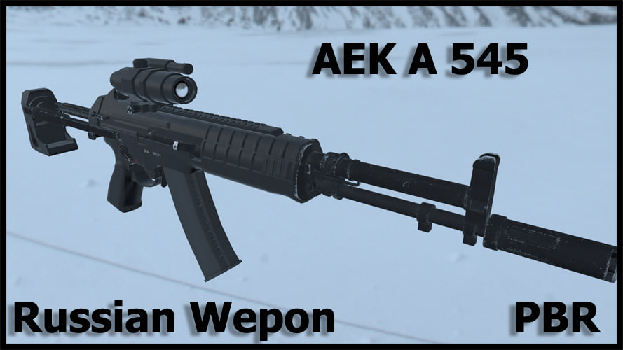 3d model russian modern weapon aek