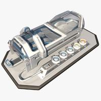 Scifi Cryopod Chamber