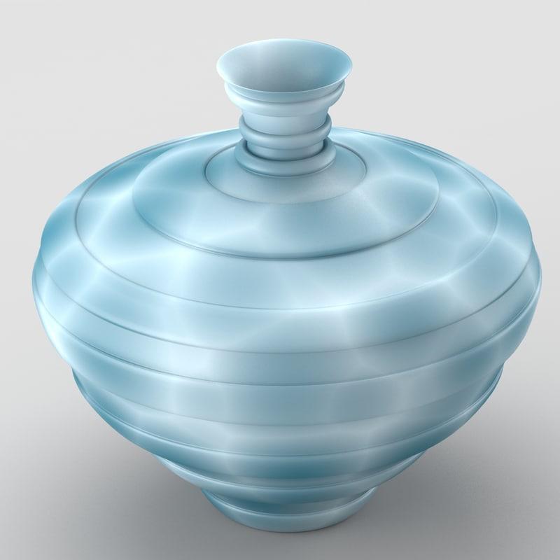 decorative spotted vase cold 3d x
