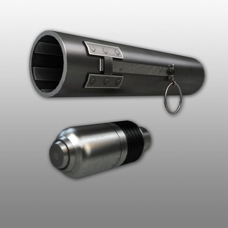 3d 40-mm disposable pocket grenade launcher