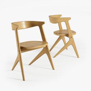 slab chair 3d model