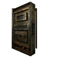 old rusty metal door 3d max