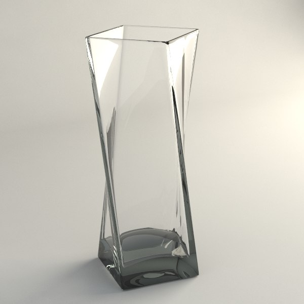 glass table vase 3d max