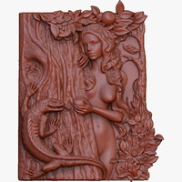 bas relief Eve for CNC and printers