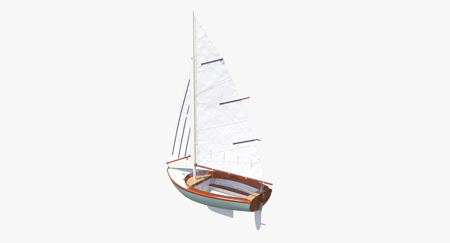 obj sailboat sail boat