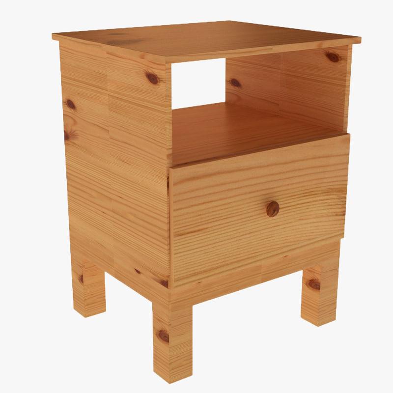 3d tarva bedside table