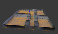 3d basic floor house model