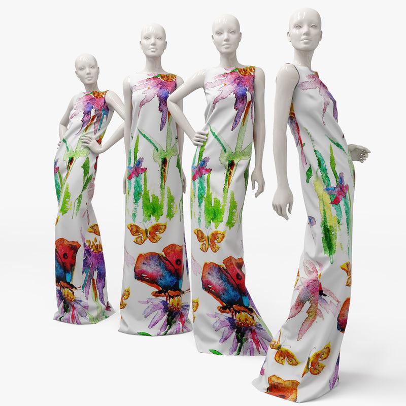 dress mannequin 3d model