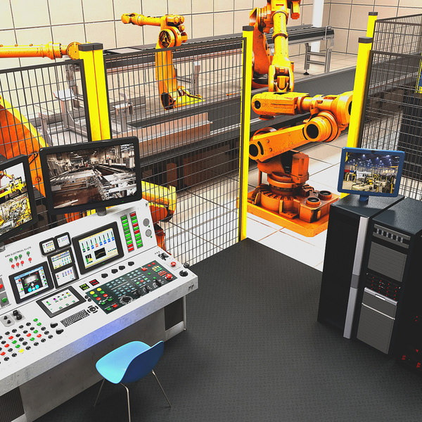 3d industrial robotics cell