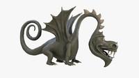 cartoon dragon animation obj