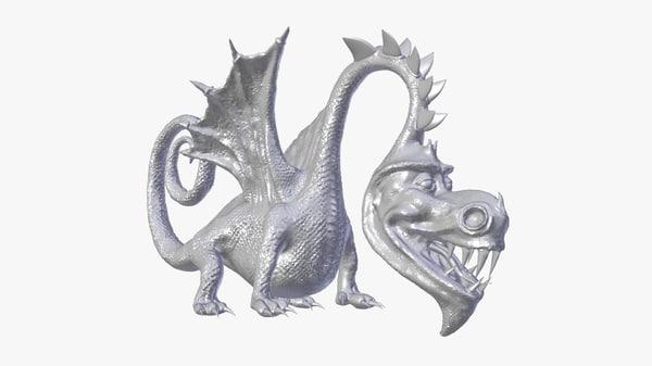 free dragon cartoon 3d model