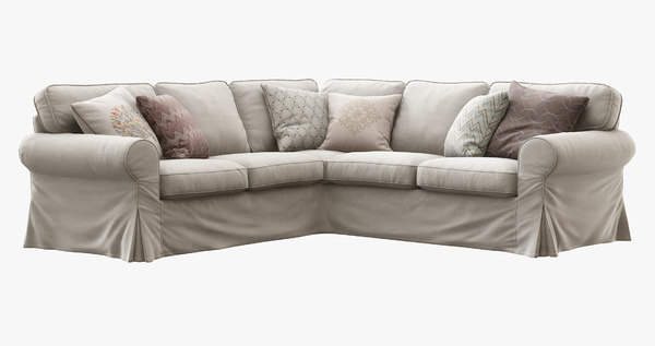 3d ikea ektorp corner sofa