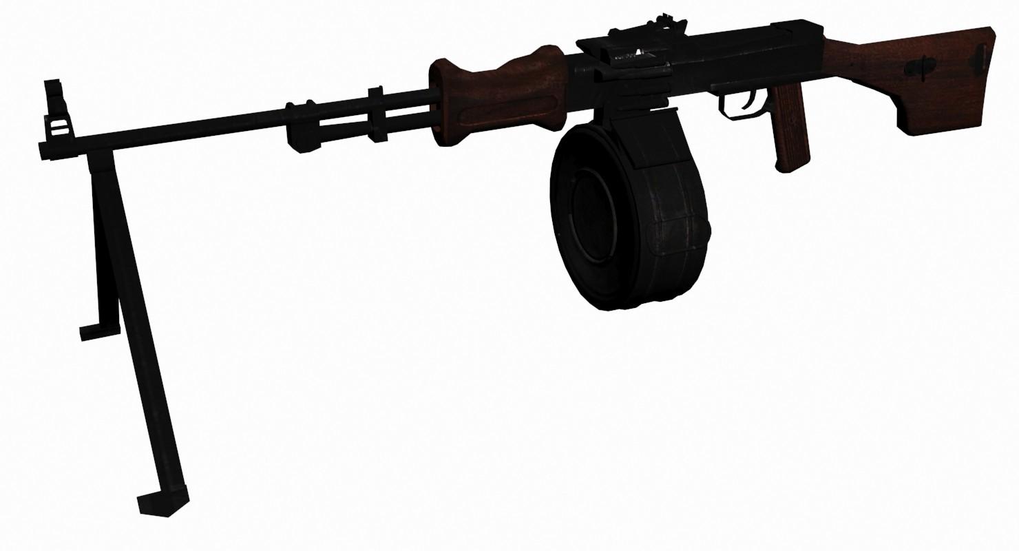 soviet rpd 3d model
