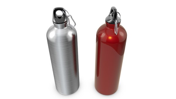 reusable sports water bottles 3d obj