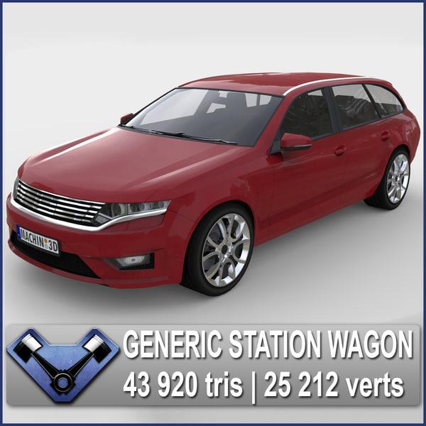 generic station wagon spectrum 3d max