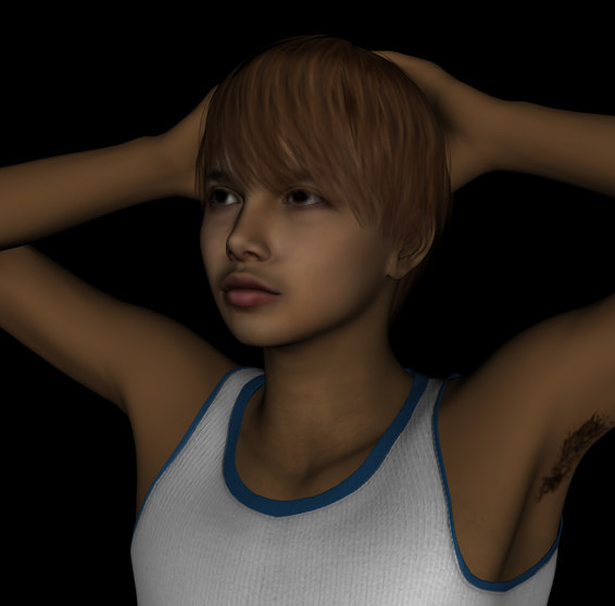 free realistic male figure 3d model