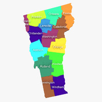 3d model vermont counties
