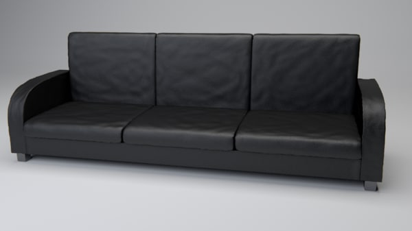 obj leather couch