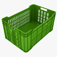 Plastic Crate 4 Green