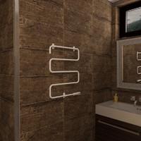 3d model of radiator electric towel bar