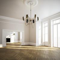 3d residential interior dining model