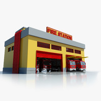 Fire Station Building Symbol