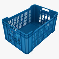 Plastic Crate 4 Blue