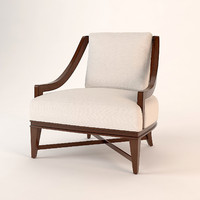 3d model baker nob hill lounge chair