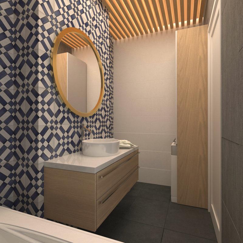 small bathroom 3d max