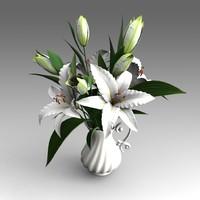 lilies flowers 3d x