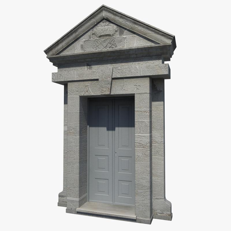 old stone portal 3d model