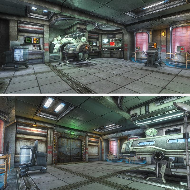 sci-fi medical room 3d model